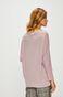 Bluza damska z dekoltem typu łódka różowa