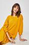 Bluza damska o obniżonej linii ramion żółta