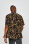 Koszula męska z wzorzystej tkaniny czarna