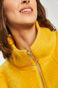 Płaszcz  damski z domieszką wełny żółty