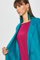 Płaszcz damski z domieszką wełny turkusowy
