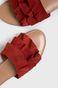 Skórzane klapki damskie rude