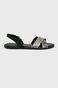 Sandały skórzane damskie czarne