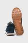 Buty męskie ze skóry zamszowej granatowe