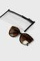 Okulary przeciwsłoneczne damskie typu kocie oczy brązowe