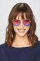 Okulary przeciwsłoneczne damskie aviator złote