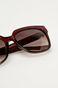 Okulary przeciwsłoneczne damskie w kwadratowej oprawie bordowe