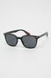 Okulary przeciwsłoneczne męskie w kwadratowej oprawie czarne