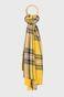 Szal damski w kratkę żółty