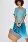 Spódnica rozkloszowana damska turkusowa