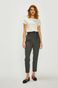 Spodnie damskie z podwyższonym stanem szare