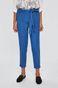 Spodnie damskie wiązane w pasie niebieskie