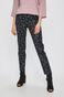 Spodnie damski wzorzyste czarne