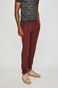 Spodnie męskie lniane chinosy czerwone