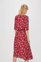 Sukienka damska zapinana na guziki czerwona