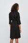 Sukienka damska z kopertowym dekoltem czarna