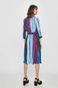 Sukienka damska w paski  z kopertowym dekoltem