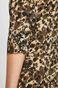 Sukienka damska z wzorzystej tkaniny zielona