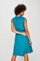 Sukienka damska wiązana w tali turkusowa