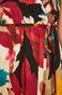 Sukienka z kopertowym dekoltem damska w kwiaty