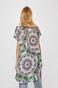Sukienka damska zapinana na guziki wzorzysta