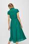 Sukienka damska z ażurowej tkaniny zielona