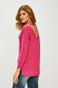 Sweter damski z wiązaniem na plecach różowy