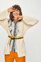 Kardigan damski z obniżoną linią ramion kremowy