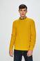 Sweter męski gładki żółty