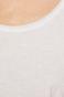 Top damski z okrągłym dekoltem biały
