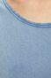 Top damski z okrągłym dekoltem niebieski
