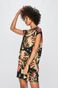 T-shirt damski z kolekcji Eviva L'arte wzorzysty czarny