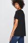 T-shirt damski z kolekcji Eviva L'arte z nadrukiem czarny