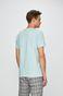 T-shirt męski ze spiczastym dekoltem niebieski