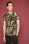 T-shirt męski z kolekcji Eviva L'arte wzorzysty czarny