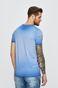 T-shirt męski z nadrukiem niebieski