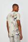 T-shirt męski wzorzysty cielisty