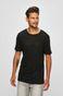 T-shirt męski lniany czarny