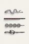 Spinki do włosów srebrne (4-pack)