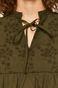 Bluzka damska z haftem zielona