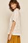 Koszula damska z ażurowej tkaniny biała