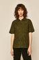 Koszula damska z ażurowej tkaniny zielona