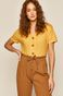 Bluzka damska ażurowa żółta