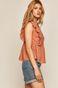 Bluzka damska z falbanką pomarańczowa