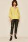 Bluza damska z trójkątnym dekoltem żółta