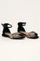 Sandały damskie z motywem zwierzęcym czarne
