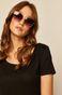 Okulary przeciwsłoneczne damskie typu kocie oczy różówe
