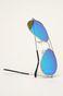 Okulary przeciwsłoneczne męskie aviator niebieskie