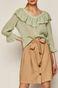 Spódnica damska wiązana w talii beżowa