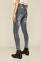Jeansy damskie skinny z kieszeniami niebieskie